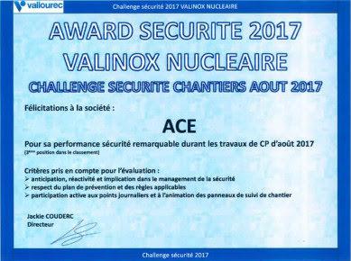 AWARD Sécurité 2017 !
