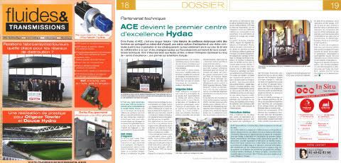 ACE devient le premier centre d'excellence Hydac en France