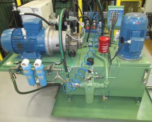 Système hydraulique speciaux blocs forés accu 1