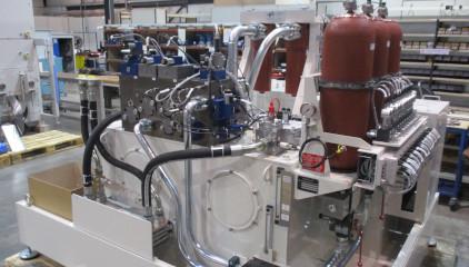 Système hydraulique speciaux blocs forés accu 2